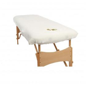 Housses pour tables portables blanche