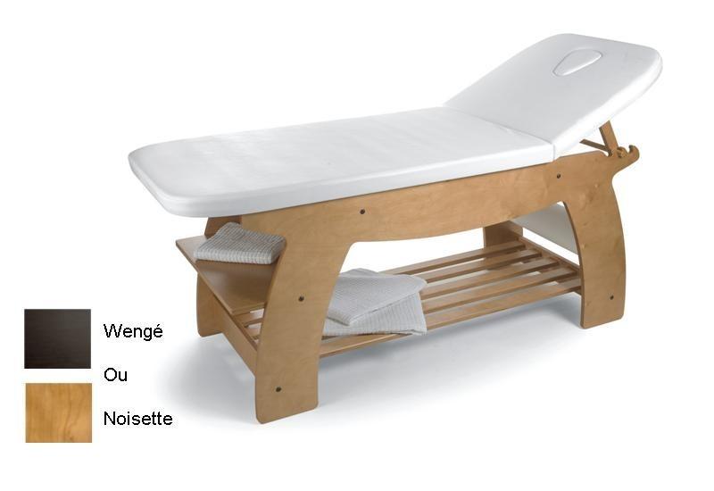table de soins professionnelle en bois weng pour des soins ou des massages esth tiques au. Black Bedroom Furniture Sets. Home Design Ideas