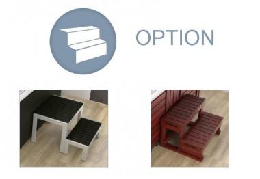 SPA Option escalier Rattan
