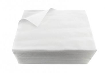 Serviette jetable blanche