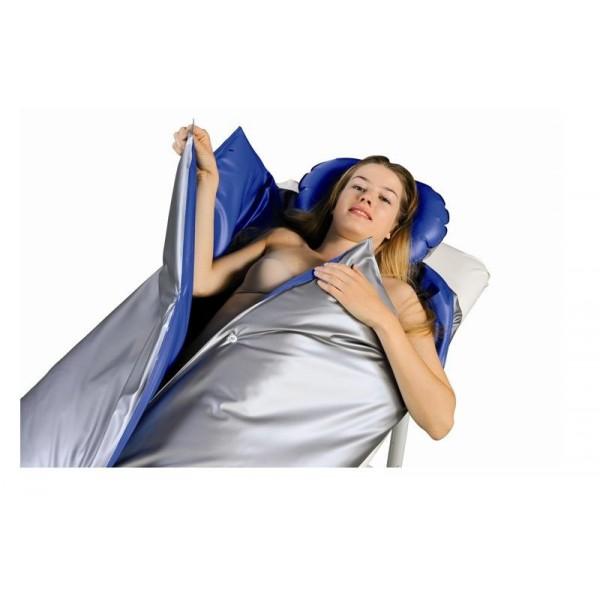 Couverture Chauffante Bodyslim bleu argent