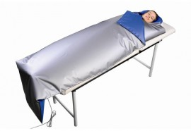 Couverture Chauffante Bodyslim XL bleu argent