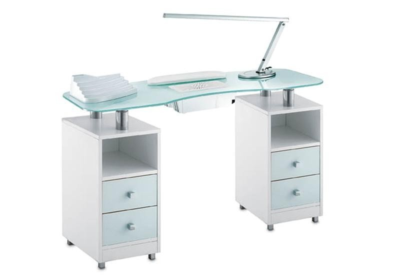 table manucure zia avec aspirateur. Black Bedroom Furniture Sets. Home Design Ideas