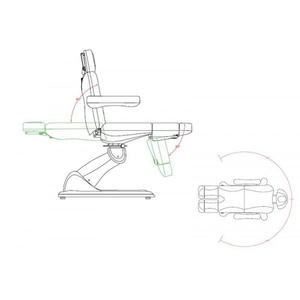 Fauteuil de Podologie 3 moteurs rotatif