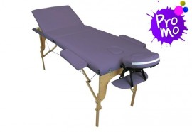 Table de massage portable mauve