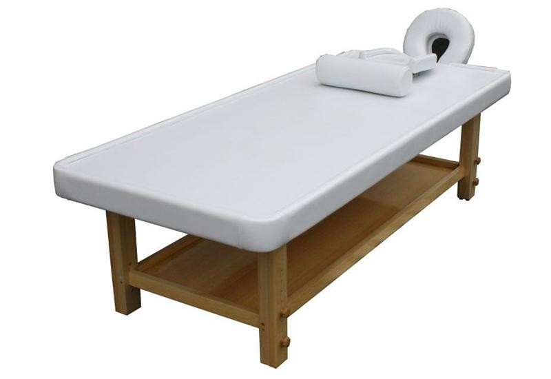 Table Pour Massage Ayurv Dique Bois Clair