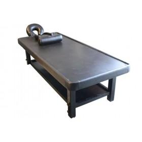 Table de massage Ayurvéda bois foncé
