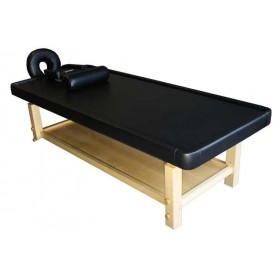 Table de massage Ayurvéda bois clair 2