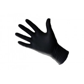 Gants latex noirs small