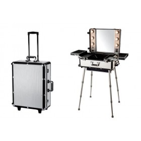 Valise studio maquillage alu