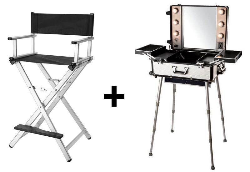 ensemble studio et chaise de maquillage alu. Black Bedroom Furniture Sets. Home Design Ideas