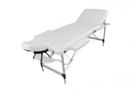 Table de massage portable alu blanche