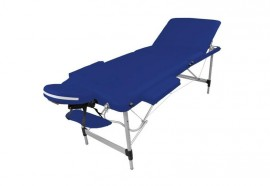 Table de massage portable alu bleue
