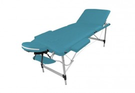 Table de massage portable alu turquoise