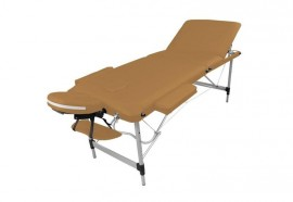 Table de massage portable alu marron