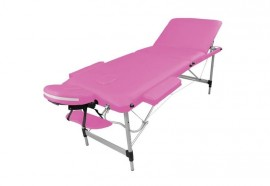 Table de massage portable alu rose