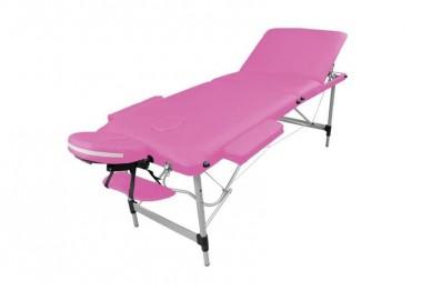 Table de massage portable alu rose