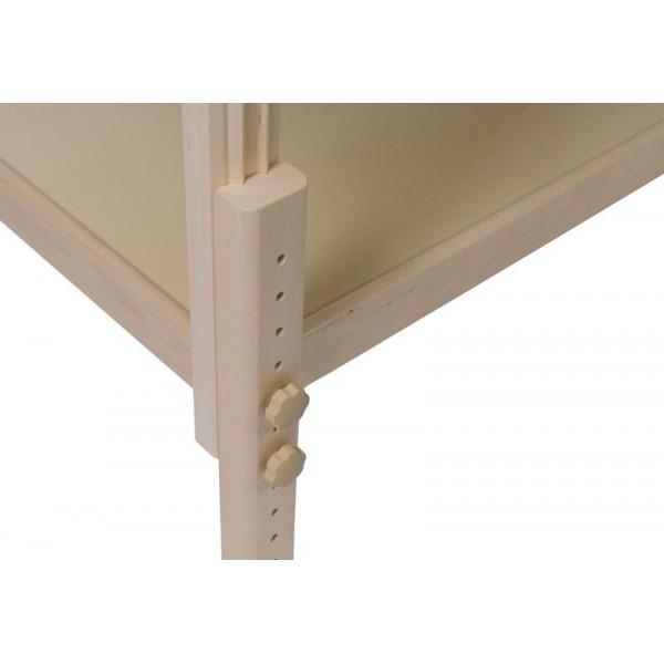 Table de soin Long bois clair