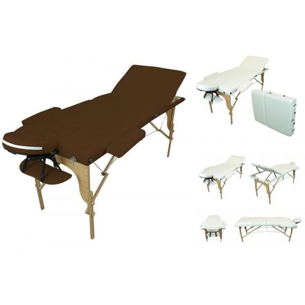 Table de massage portable bois couleur au choix