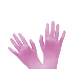 Gants Nitrile Rose medium