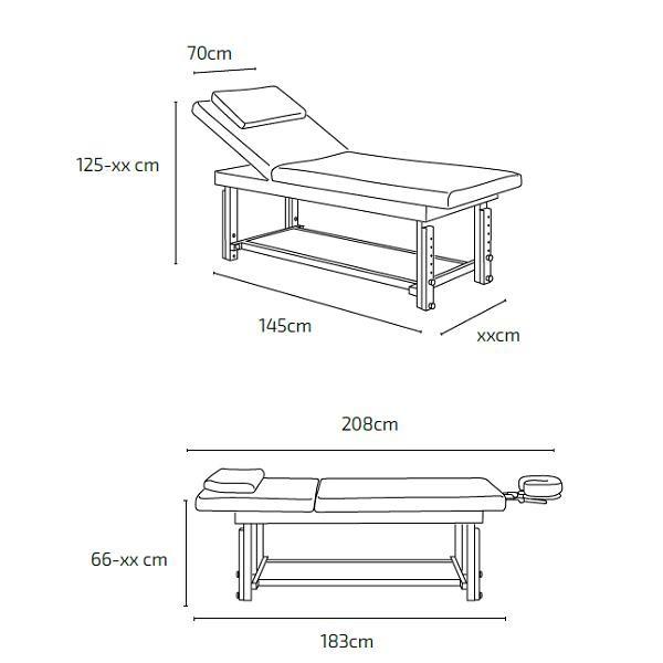 Table de massage à hauteur réglable MIRIAM