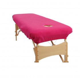 Housse éponge Rose pour tables portables