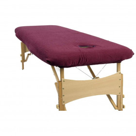 Housse éponge Aubergine pour tables portables