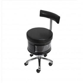 Chaise manucure noire avec rangements