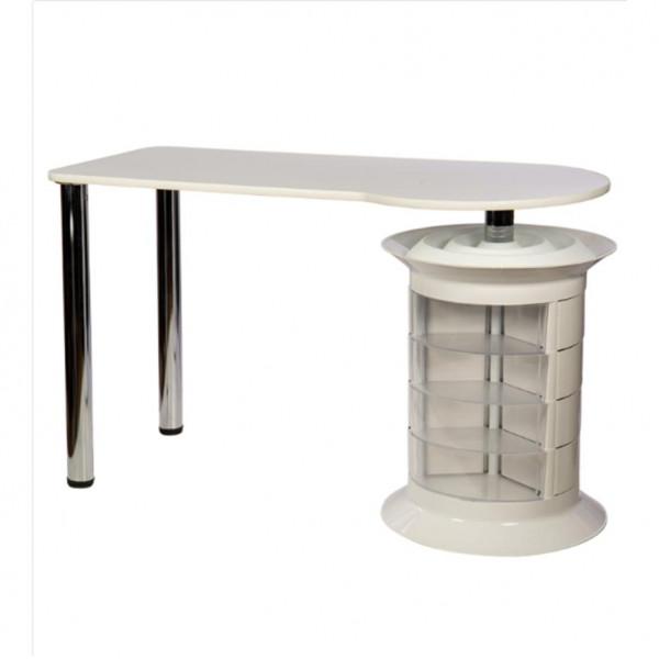 Table manucure Elit blanche simple rangement
