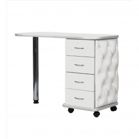 Table manucure stylée 4 tiroirs blanche