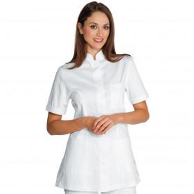 Tunique médicale col Mao Panarea blanche