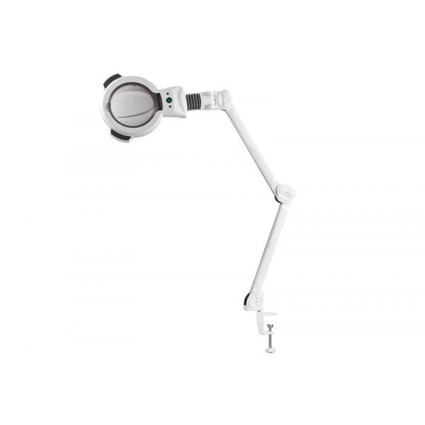 Lampe loupe LED 5 dioptries avec étau