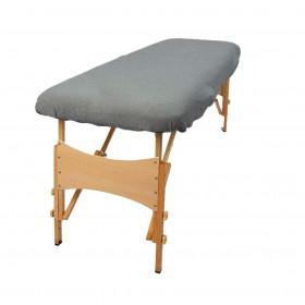 Housse éponge Grise sans trou nasal pour tables portables