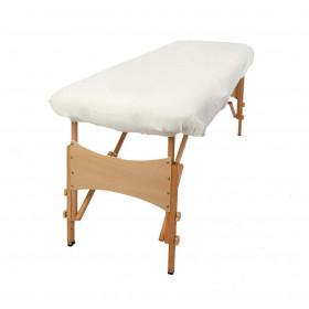 Housse éponge Blanche sans trou nasal pour tables portables
