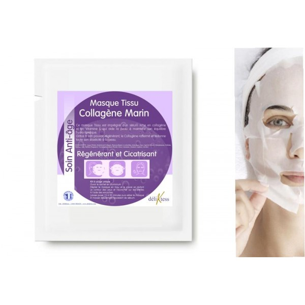 Masque anti-âge en tissu au collagène marin