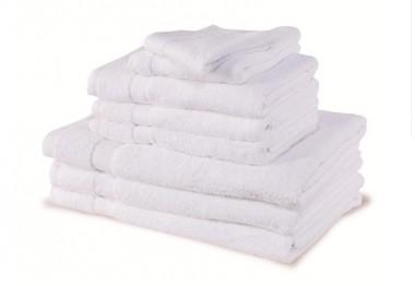 Serviettes blanches 50 x 90 par 12